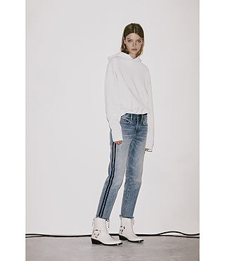 Femmes Boys Stripe Jeans (LIGHT INDIGO BLUE) - product_image_alt_text_5