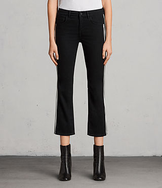 Womens Heidi Stripe Jeans (Black) - Image 1