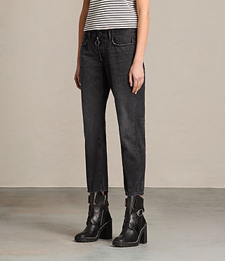 Mujer Track Boyfriend Jean (Black) - product_image_alt_text_3