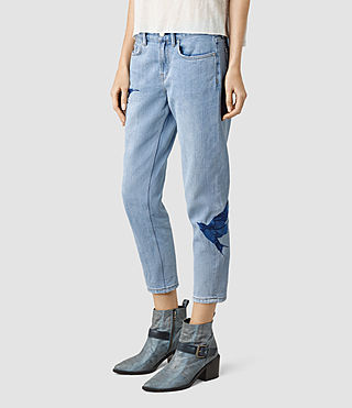 Mujer Birds Jeans (Indigo Blue) - product_image_alt_text_3