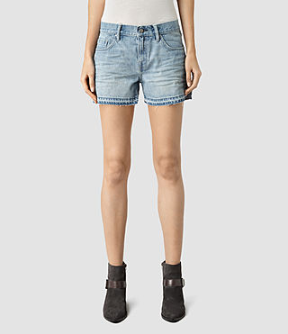 Womens Jules Denim Shorts (Indigo Blue)