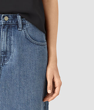 Mujer Mitchy Denim Culotte Shorts (Indigo Blue) - product_image_alt_text_2