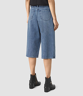Mujer Mitchy Denim Culotte Shorts (Indigo Blue) - product_image_alt_text_3