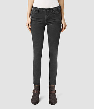Womens Mast Marble Wash Jeans (MARBLE BLACK)