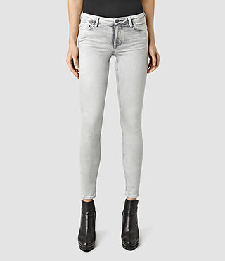 Womens Mast Bleached Jeans (Grey)