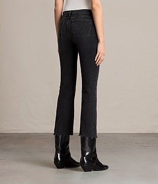Womens Zoe Cropped Bootcut Jeans (Washed Black) - product_image_alt_text_3