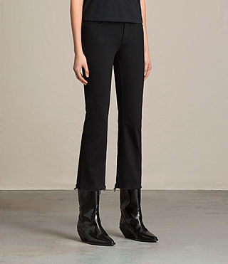 Damen Zoe Cropped-Jeans mit Bootcut (Jet Black) - product_image_alt_text_3