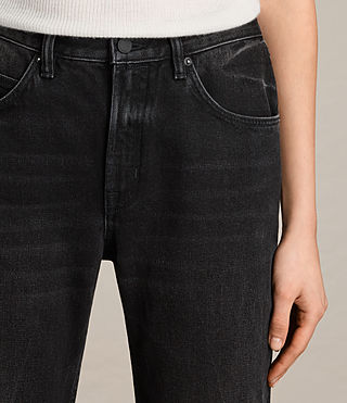 Femmes Jean bootcut Zoe court (Washed Black) - product_image_alt_text_2
