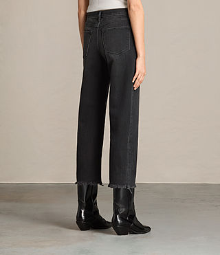 Femmes Jean bootcut Zoe court (Washed Black) - product_image_alt_text_3
