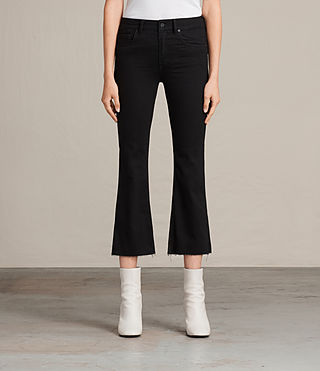 Womens Heidi Cropped Flare (Jet Black) - product_image_alt_text_1