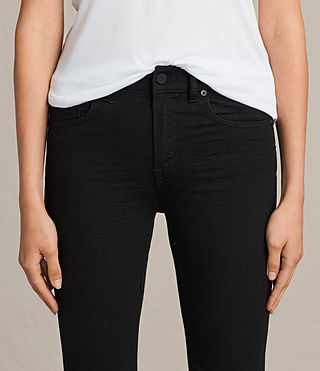 Women's Heidi Cropped Flare (Jet Black) - product_image_alt_text_2