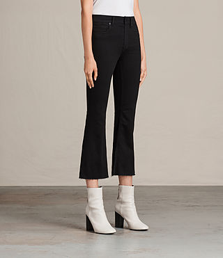 Womens Heidi Cropped Flare (Jet Black) - product_image_alt_text_3