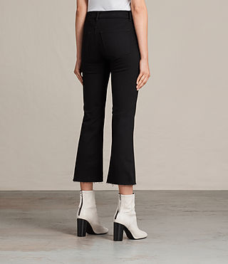 Women's Heidi Cropped Flare (Jet Black) - product_image_alt_text_4