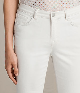 Women's Zoe Cropped Bootcut Jeans (White) - product_image_alt_text_2