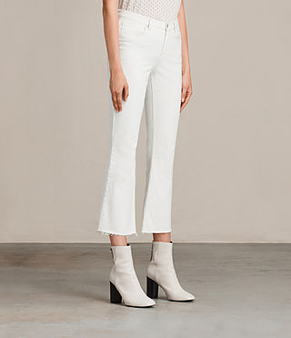 Womens Zoe Cropped Bootcut Jeans (White) - product_image_alt_text_3