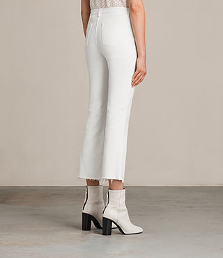 Women's Zoe Cropped Bootcut Jeans (White) - product_image_alt_text_4