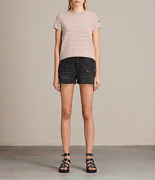 Womens Serene Denim Shorts (Washed Black)