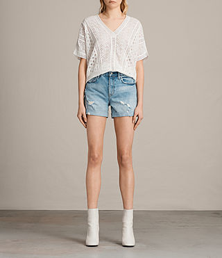 Femmes Olivia Denim Shorts (MID INDIGO BLUE) -