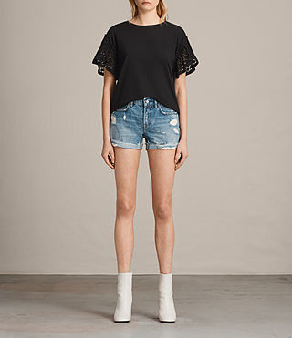 Womens Pam Denim Shorts (Indigo Blue) - Image 1