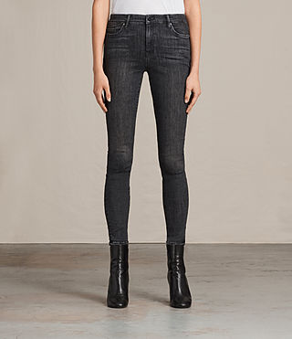 Womens Grace Jeans (Washed Black) - product_image_alt_text_1
