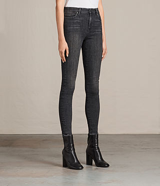 Womens Grace Jeans (Washed Black) - product_image_alt_text_3