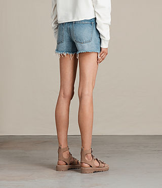 Womens Button Boy Shorts (MID INDIGO BLUE) - product_image_alt_text_5