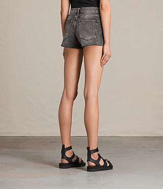 Womens Lea Denim Shorts (Vintage Grey) - product_image_alt_text_4