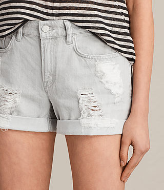 Women's Pam Denim Shorts (Pale Grey) - Image 2