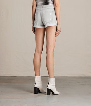 Women's Pam Denim Shorts (Pale Grey) - Image 4