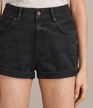 Donne Shorts Helena Denim (Washed Black) - Image 2