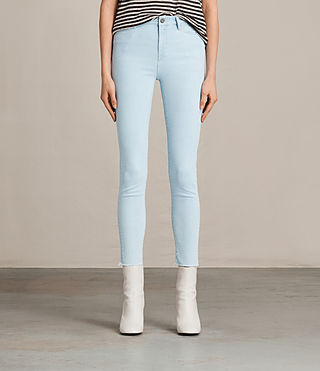 Femmes Grace Ankle Jeans (Ice Blue) -