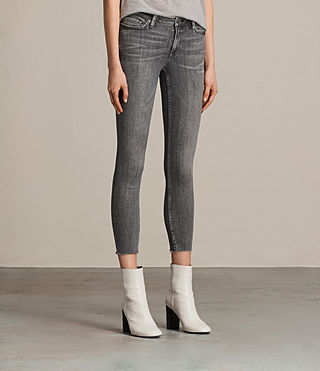 Womens Mast Ankle Jeans (Grey) - product_image_alt_text_3