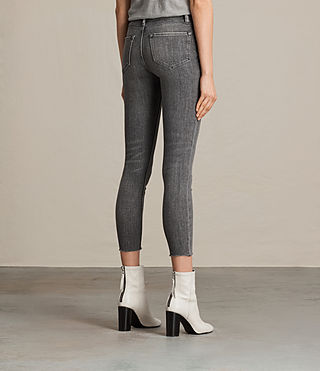 Womens Mast Ankle Jeans (Grey) - product_image_alt_text_4
