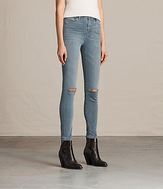 Mujer Eve Lux Slash Jeans (Blue Grey) - product_image_alt_text_3