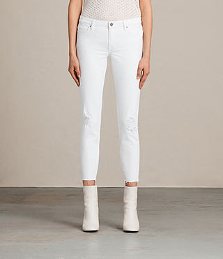 Women's Mast Ankle Destroy Jeans (White) -