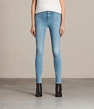Womens 그레이스 진 (LIGHT INDIGO BLUE)