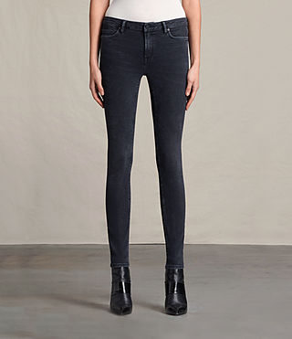 Women's Mast Jeans (Washed Black) - Image 1