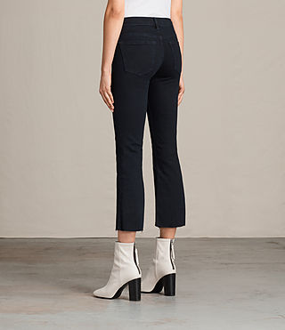 Damen Heidi Cropped Flare (DARK INDIGO BLUE) - product_image_alt_text_2