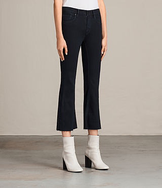 Damen Heidi Cropped Flare (DARK INDIGO BLUE) - product_image_alt_text_4