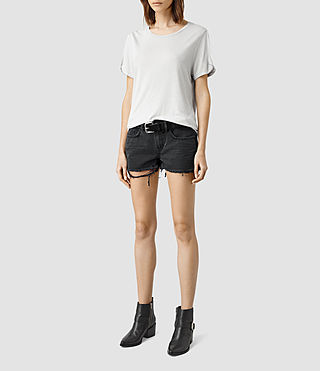 Womens Sasha Boys Shorts (Black)