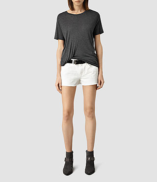 Womens Sasha Boys Shorts (White)