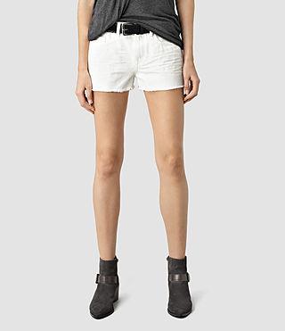 Womens Sasha Boys Shorts (White) - product_image_alt_text_3