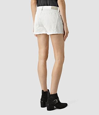 Womens Sasha Boys Shorts (White) - product_image_alt_text_4