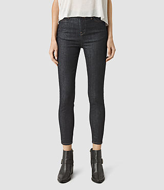 Womens Nim Highwaisted Crop Jeans (Rinse Wash)