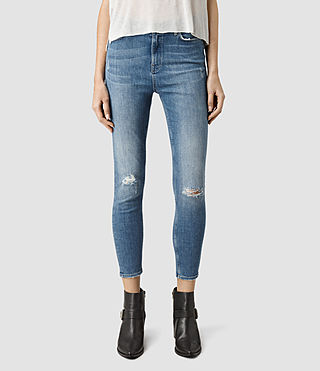 Womens Nim Highwaisted Crop Jeans (Fresh Blue)