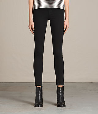 Womens Jewel Jeans (Jet Black)