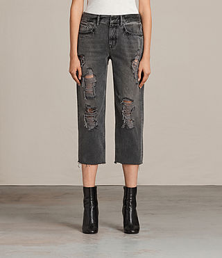 Women's Ivy Destroys Boys Jeans (Grey) - Image 1