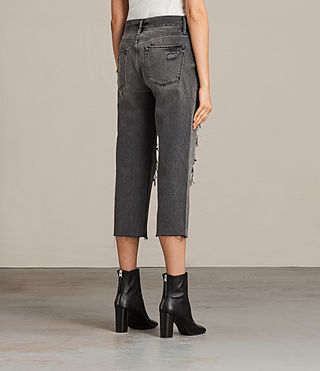 Women's Ivy Destroys Boys Jeans (Grey) - Image 2