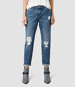 Donne Amy Girlfriend Jeans (MID BLUE)
