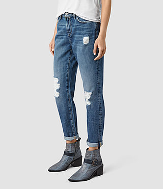 Women's Amy Girlfriend Jeans (MID BLUE) - product_image_alt_text_2